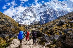 Approaching Salkantay Mountain