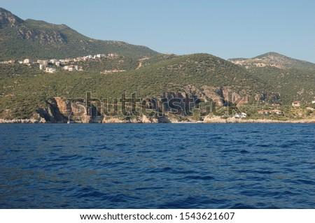 Approaching the Büyük Çakıl Beach near Kaş, Turkey Stok fotoğraf ©