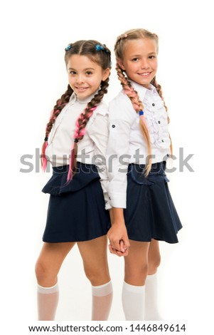 Appropriate hairstyle. Girls long braids. Fashion trend. It is awesome dye hair fun colors. Keep hair braided for tidy look. Pupils with long braided hair. Hairdresser salon. Hairstyles school style.