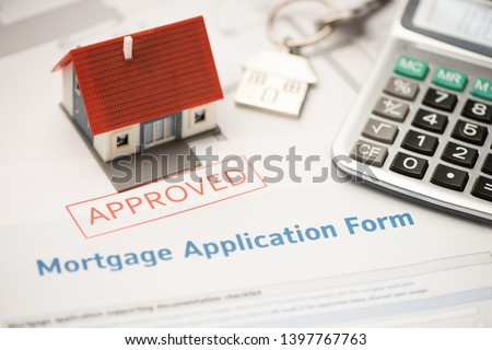 Approved mortgage loan agreement application ストックフォト ©
