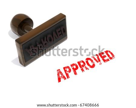 Approved rubber stamp illustration