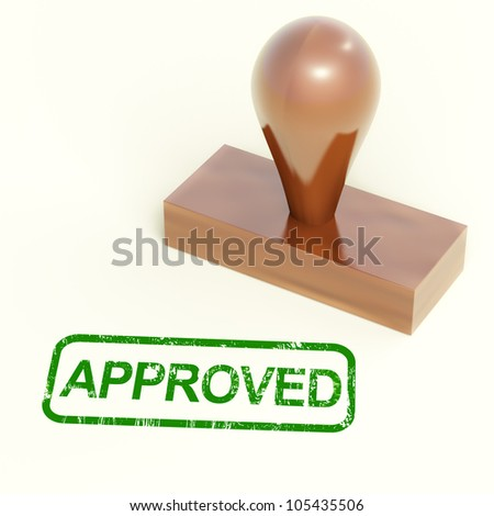 Approved Rubber Stamp Shows Quality Excellent Product