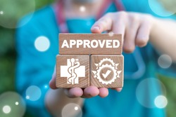 Approved Seal Medical Concept. Approve Health Pharmacy Check.