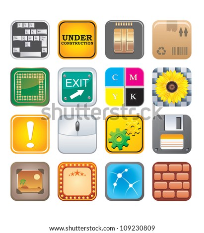 apps icons set five