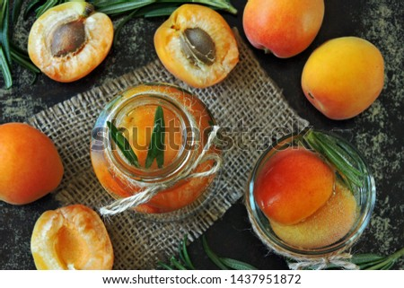Apricot detox drink with rosemary. Summer refreshing drinks. Keto drinks. Keto diet. #1437951872