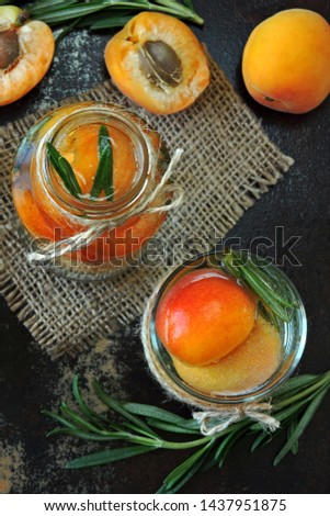Apricot detox drink with rosemary. Summer refreshing drinks. Keto drinks. Keto diet. #1437951875