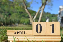 April 1, Cover natural background for your business.