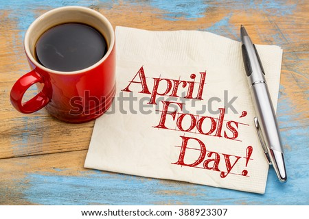 april fools' day  handwriting...