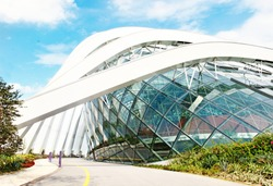 April 6, 2014  Singapore. building in the park Gardens by the Bay, Singapore.