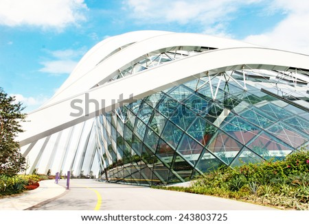 April 6, 2014  Singapore. building in the park Gardens by the Bay, Singapore. #243803725