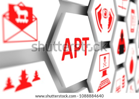 APT concept cell blurred background 3d illustration Stockfoto ©