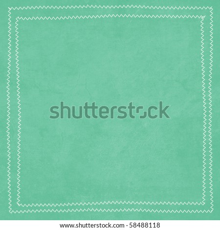 Aqua and Brown Collection Aqua Background with Stitched Border