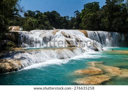 Shutterstock Aqua Azul waterfall, Chiapas, Mexico