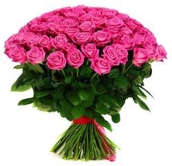 Aqua bouquet of  rose isolated on white