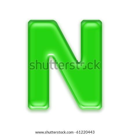Aqua letter - N Stock foto ©