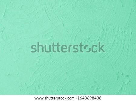 Aqua Menthe color concrete wall grunge background, cement construction material texture backdrop. Stock photo ©