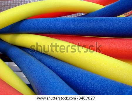 aqua noodles interlacing - stock photo