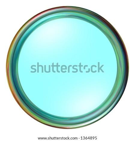 Aqua Round Button