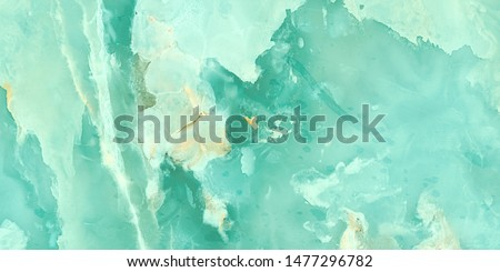 Photo of  Aqua tone onyx marble with high resolution, exotic Onice marbel for interior exterior decoration design, natural  Emperador marbel tiles for ceramic wall and floor, quartzite structure slice mineral