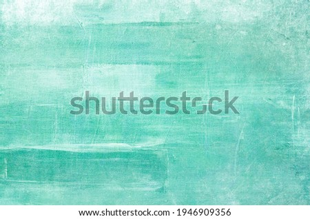 Aquamarine abstract painting on canvas grunge background or texture  Stock photo ©