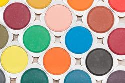 aquarell color palette top view