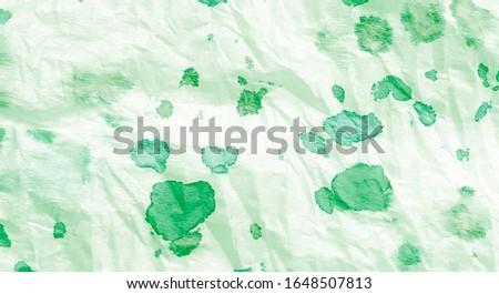 Aquarelle Texture. Abstract Splash. Brushed Graffiti.Tie Dye Print. Green White Handmade Dirty Art. Dirty Art Painting. Watercolor Print. Watercolor Pattern. Floral Tie Dye Batik.