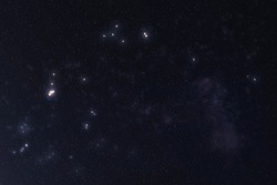 Aquarius Constellation stars in outer space. Zodiac Sign Aquarius constellation. Elements of this image were furnished by NASA