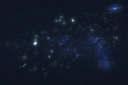 Aquarius Constellation stars in outer space. Zodiac Sign Aquarius constellation stars. Elements of this image were furnished by NASA