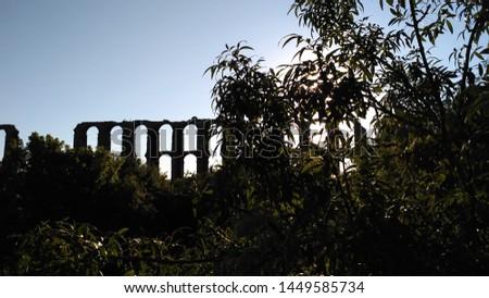 Aqueduc in Merida (Augusta Emerita). Roman City - Temples, Theatres, Monuments, Sculptures and Arenas -  Estremadura, Spain #1449585734