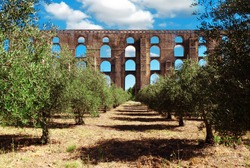 Aqueduct Amoreira Elvas, Portugal.