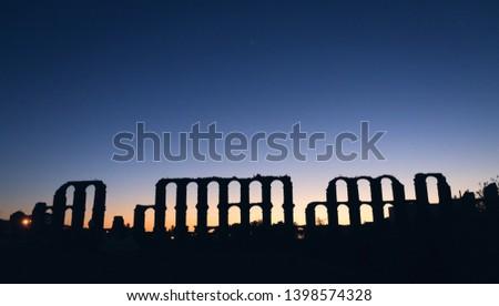 Aqueduct of Merida at nightfall #1398574328