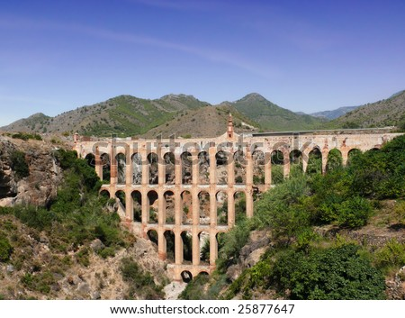 Aqueduct on Costa del Sol. Nerja. Spain