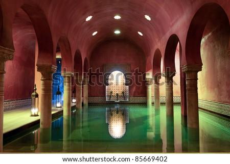 Arab Baths in Granada, Andalusia, Spain