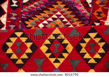 Arab carpets at market in Morocco