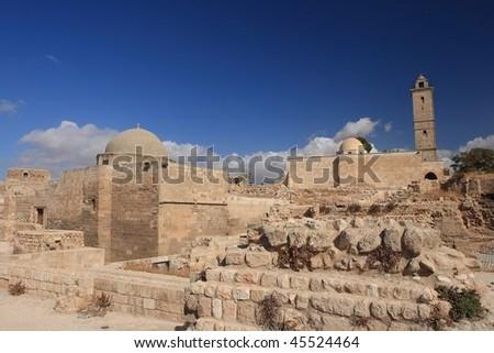 arab citadel in Aleppo, Syria