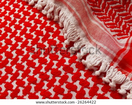 Arab Keffiyeh  closeup. More of this pattern & more textiles in my port.