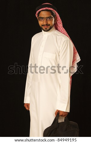 Arab male business man with bag