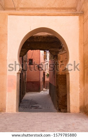 Arab portals of the Moroccan souk