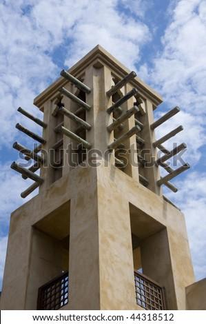Arab wind tower in madinat jumeirah in Dubai United Arab Emirates