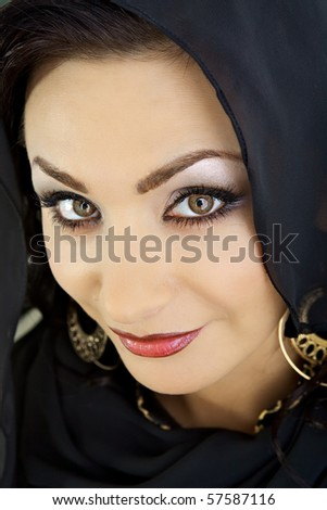 Arab woman with decorative make-up