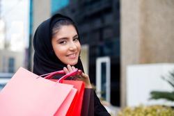 Arab Women with shopping bag