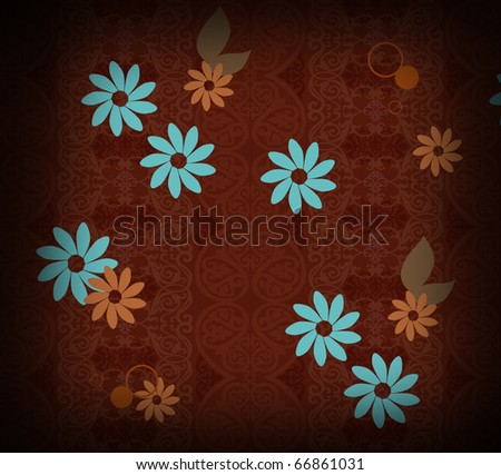 arabesque background with flowers