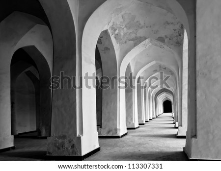 arabian arches in kolon mosque. ...