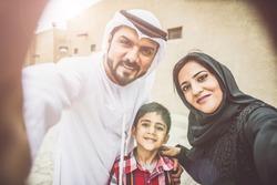 Arabian family portrait in the old city.