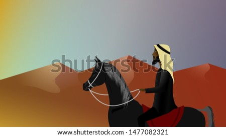 Arabian Knight and Middle east desert