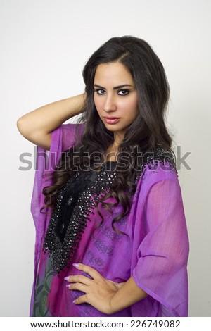 Arabian lady wearing Abaya  #226749082