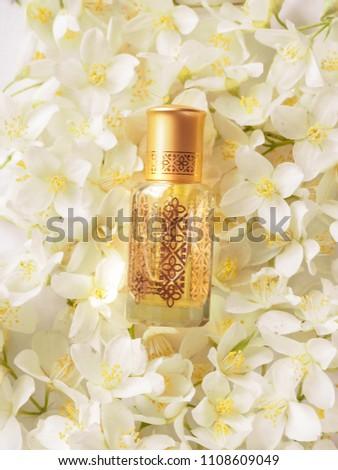 Arabian oudh attar perfume or agarwood oil fragrances with Jasmine in mini bottle #1108609049
