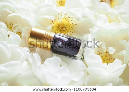 Arabian oudh attar perfume or agarwood oil fragrances with Rose in mini bottle #1108793684