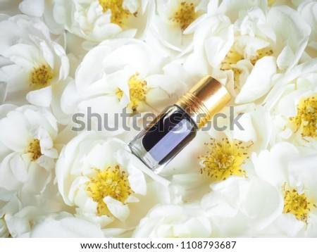 Arabian oudh attar perfume or agarwood oil fragrances with Rose in mini bottle #1108793687