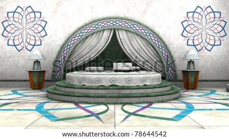 Arabian Style Bedroom Interior Stock Photo 78644542 : Shutterstock